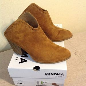 Sonoma Ankle Boots Booties Slides 8.5  Like new